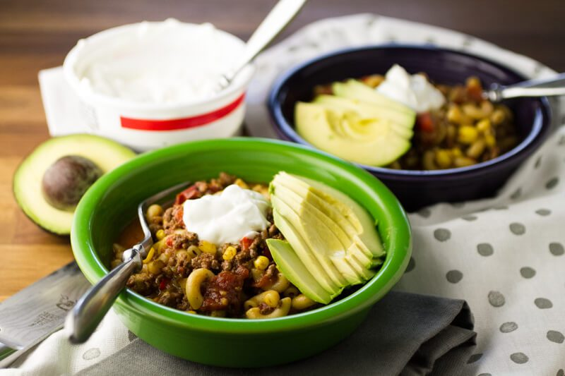 Cheesy Chili Mac is a kid-friendly meal that's full of veggies and ...