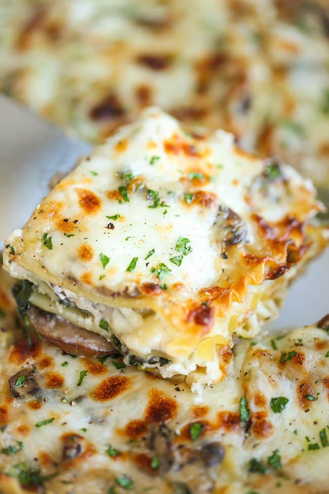 creamy-spinach-and-mushroom-lasagna