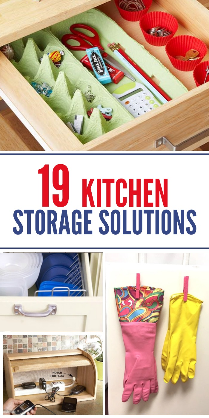 kitchen-storage-solutions using egg carton and cupcake cups.