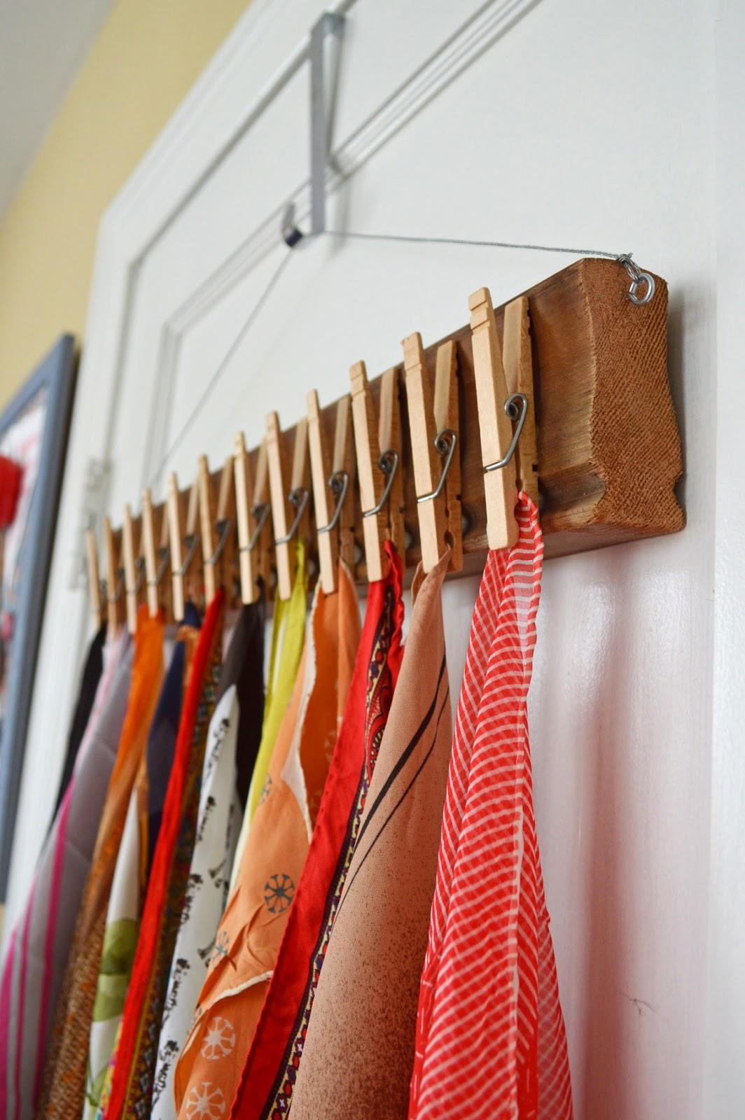 scarf-clothespin-storage