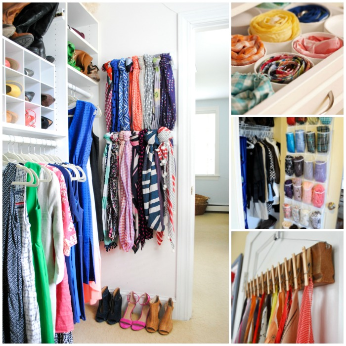 15 simple ways to organize scarves