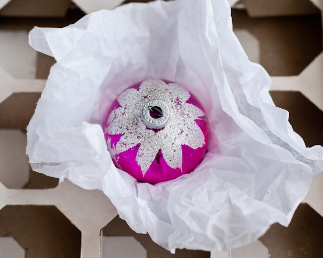wrap-ornaments-in-tissue-paper
