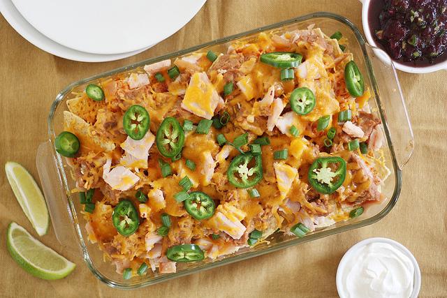 thanksgiving leftovers nachos