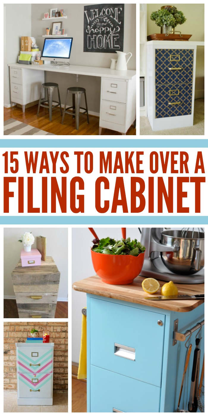 We've found 15 fabulous file cabinet makeovers to get your creative juices flowing!