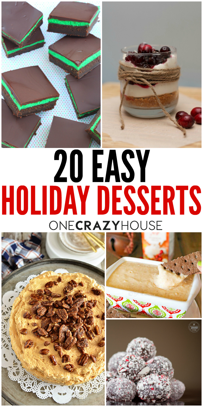 Quick easy holiday desserts recipes