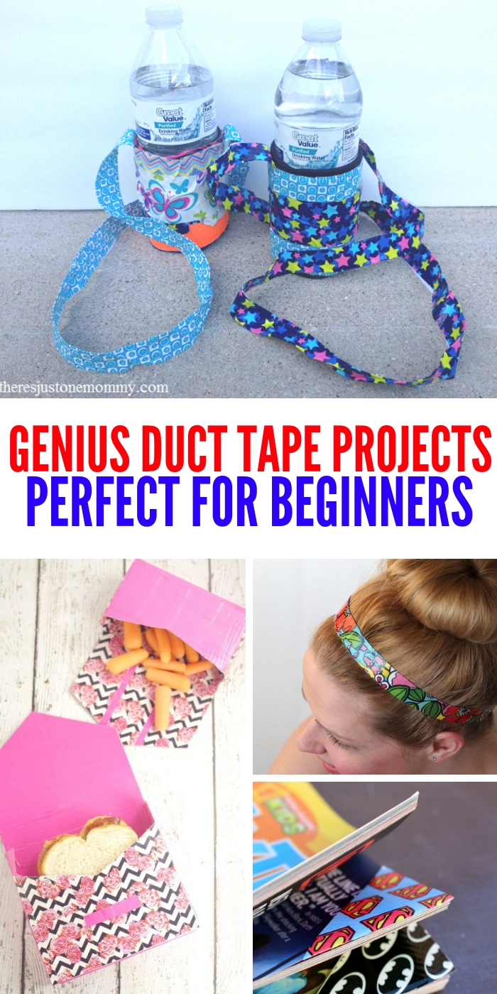 These genius and simple duct tape projects are perfect for beginners. Have fun creating a new look for you and all your stuff! #onecrazyhouse #ducttapeprojects #DIY #ducttape