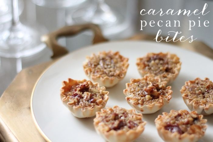 Caramel Pecan Pie Bites   Julie Blanner