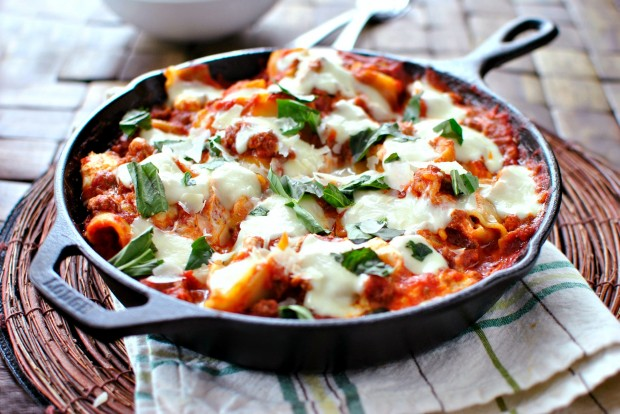 cast-iron-skillet-lasagna