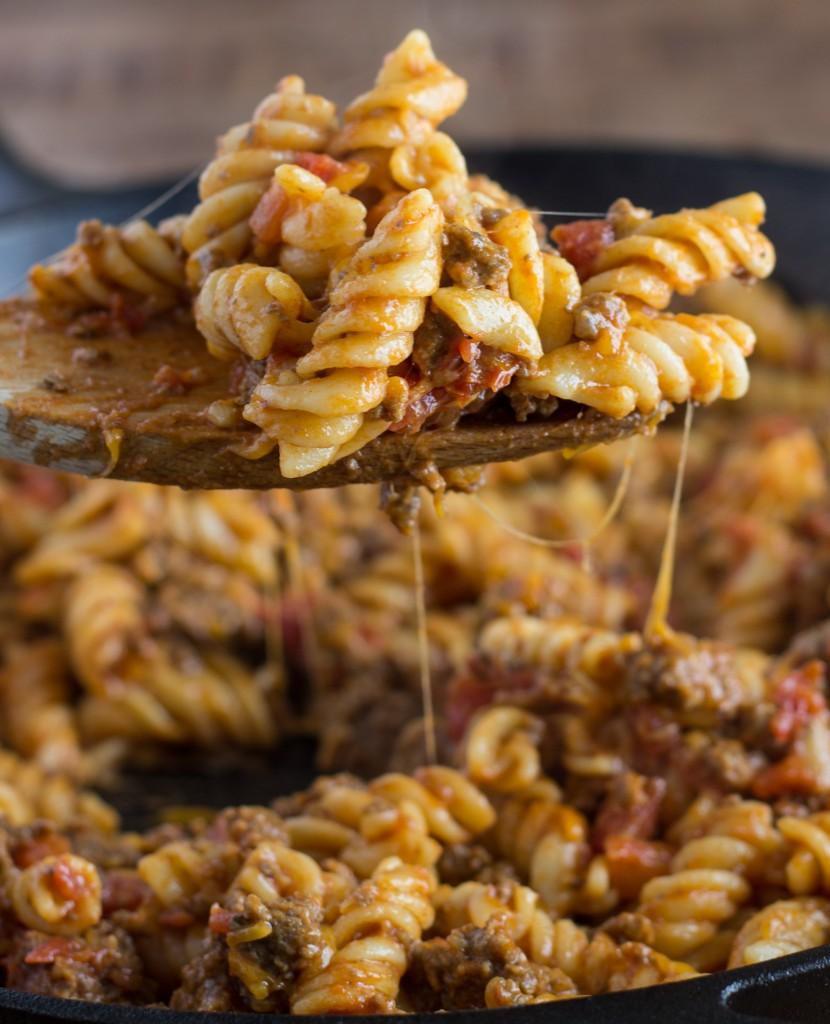 skillet-cheeseburger-pasta
