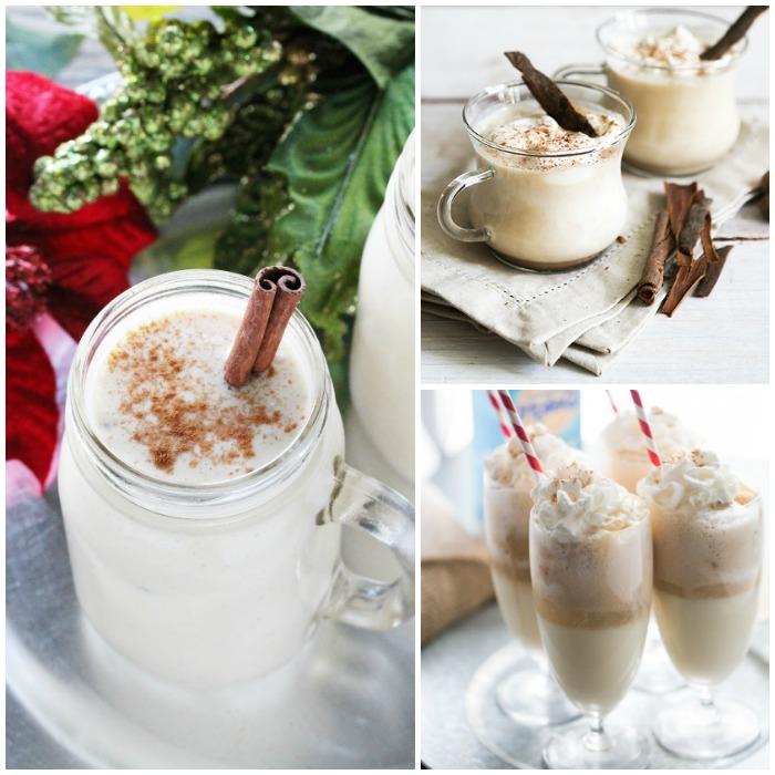 eggnog recipes image collage