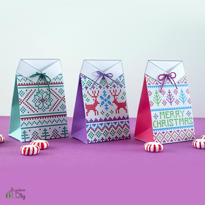 Free printable gift boxes for last minute wrappers