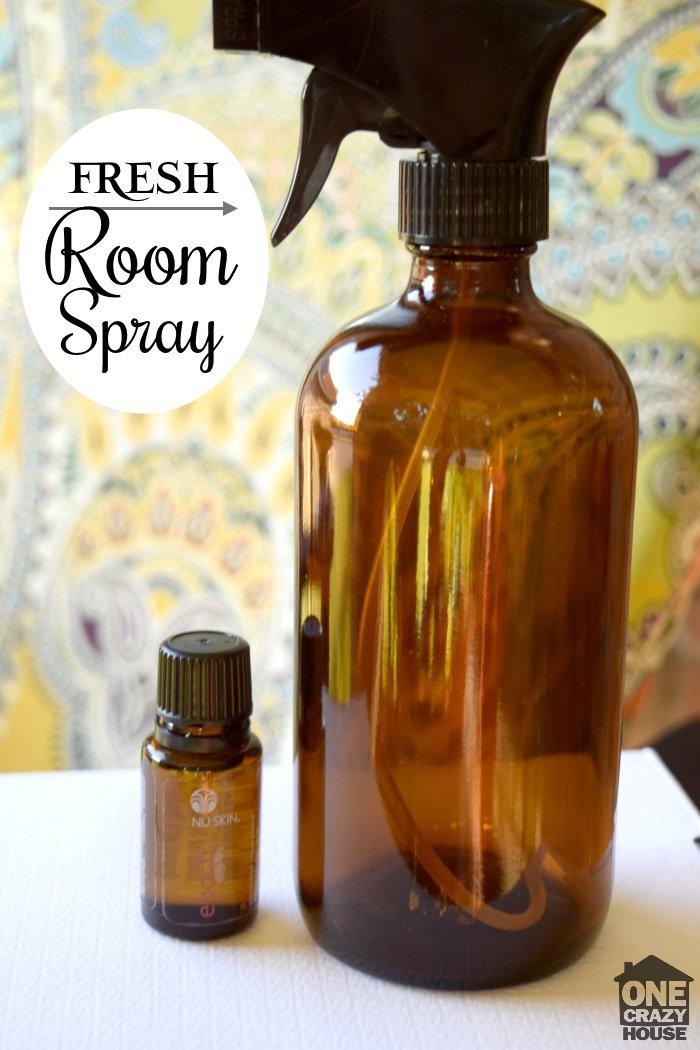 fresh-room-spray with essential oils
