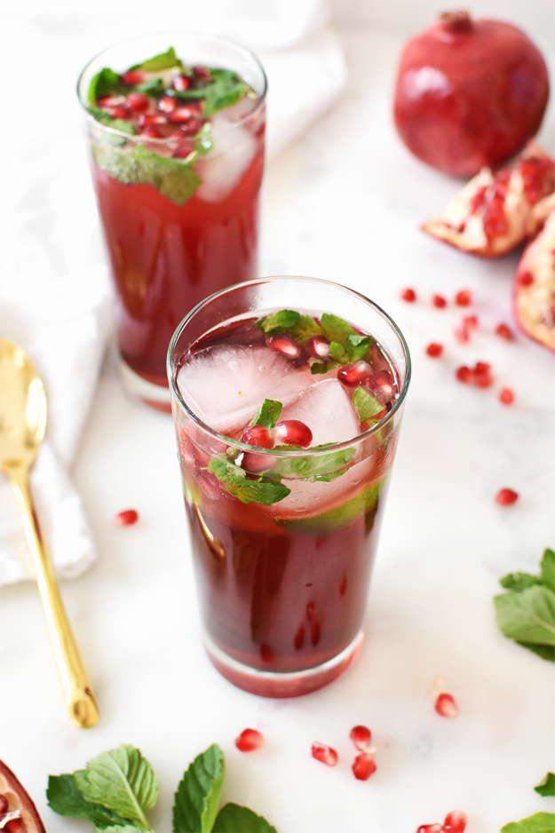 ... Pomegranate Mojito Mocktail is perfect for Thanksgiving and Christmas