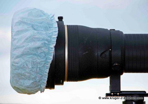shower-cap-over-camera-lens