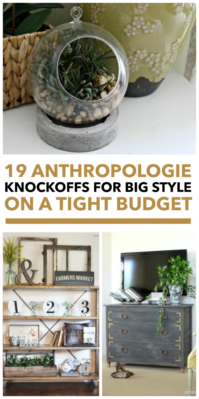 These Anthropologie knockoffs are gorgeous and affordable for almost any budget.