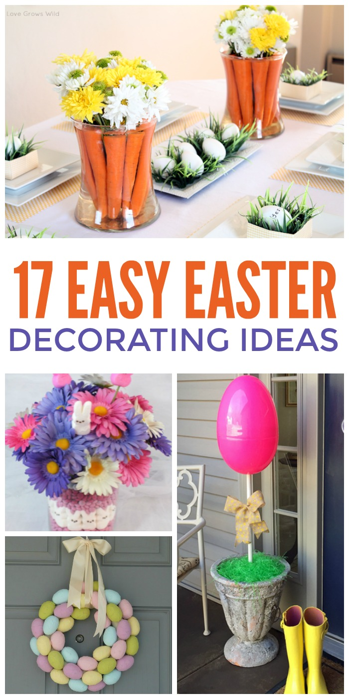 Easiest ever easter decorating ideas