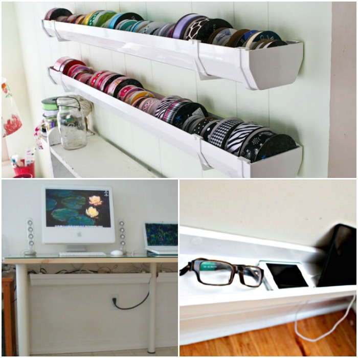 Rain Gutter Ideas for Organizing