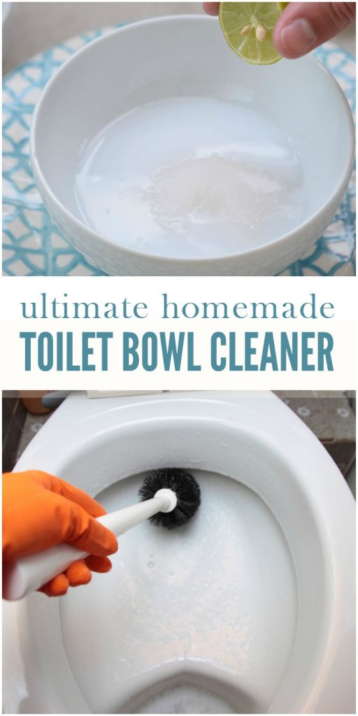 This easy diy toilet bowl cleaner will leave your toilet sparkling clean.