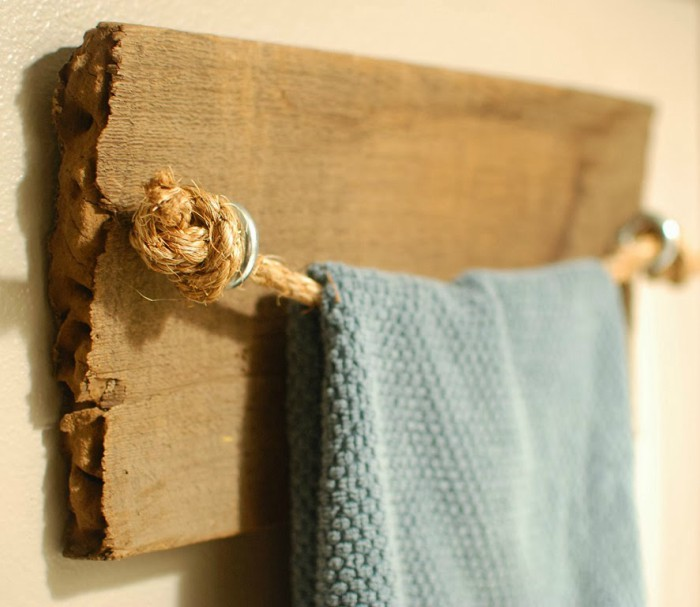 Images home made towel rods
