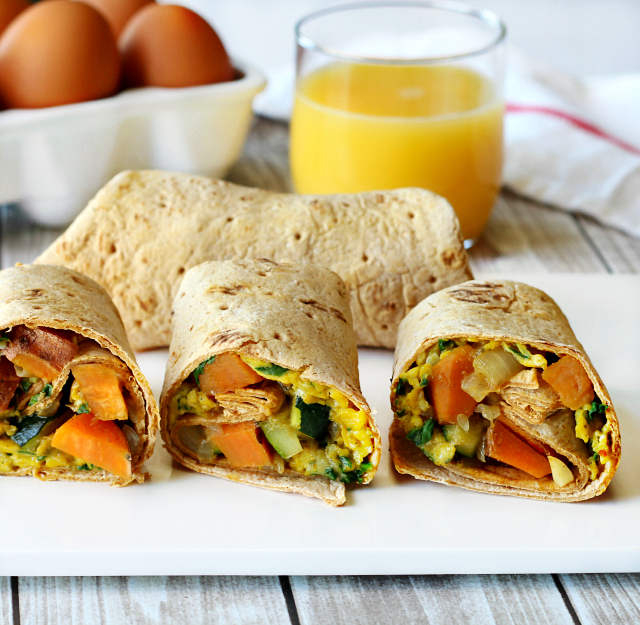 These Vegan Breakfast Burritos maintain the light and fluffy egg ...