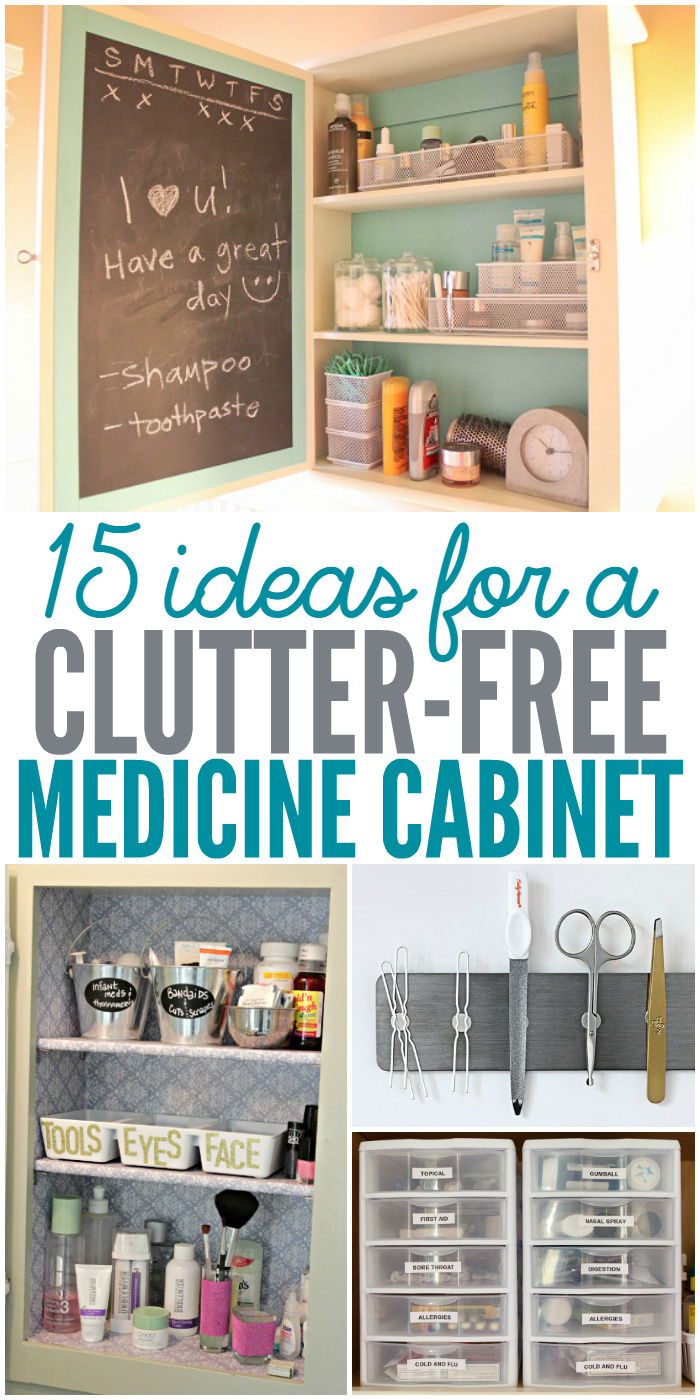 15 Ideas for a Clutter-Free medicine cabinets