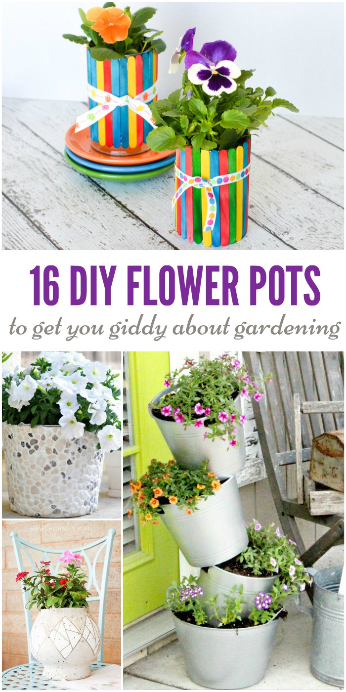 Don't settle for boring planters. These DIY flower pots will make you love your plants again!