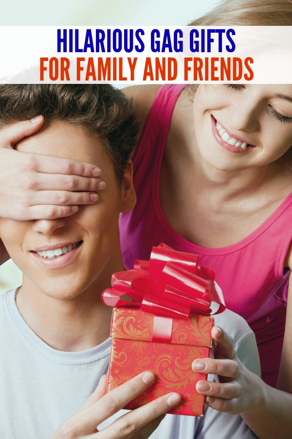 These gag gifts are too funny to miss! Surprise your family and friends year round with these hilarious gag gifts! #onecrazyhouse #gaggifts #gaggiftsforadults #funnygifts