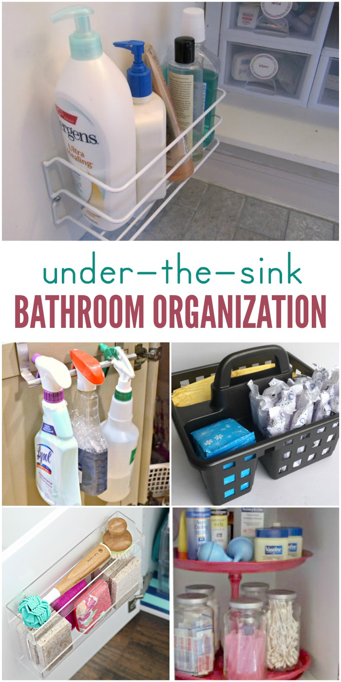 Bathroom a mess? These under-the-sink storage ideas can get you organized without requiring lots of space.
