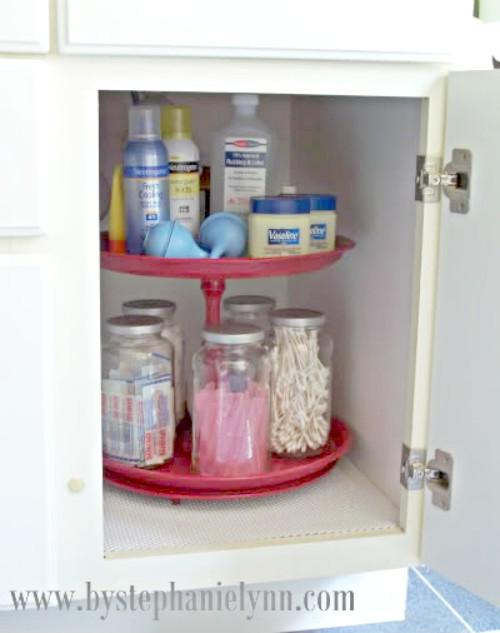 Under Kitchen Sink Storage Acrylic Plastic Shelf
