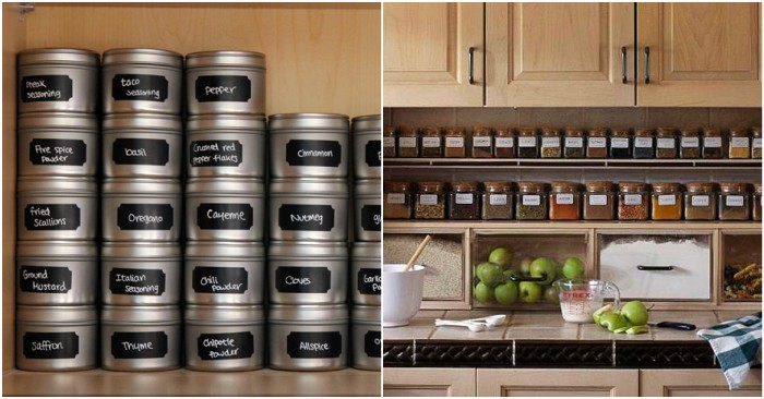 kitchen spice organization ideas 15 genius ways to organize spices and save cabinet space 6113