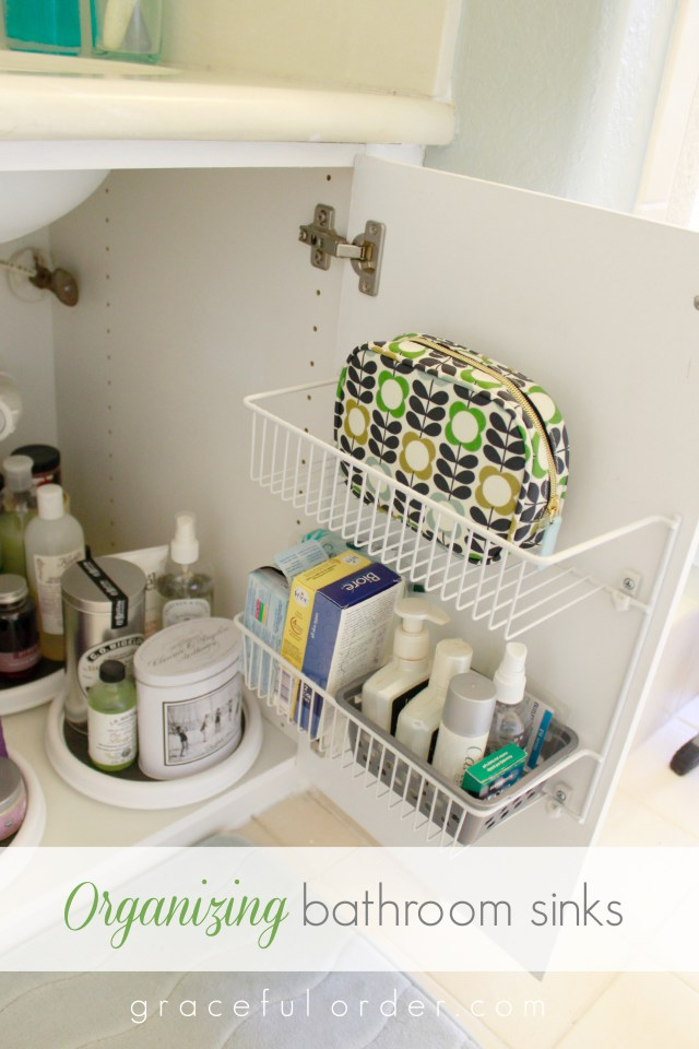 15 ways to organize under the bathroom sink How to organize bathroom