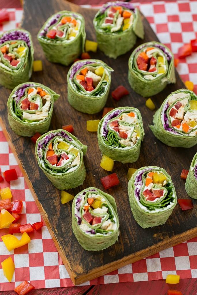rainbow veggie roll-ups