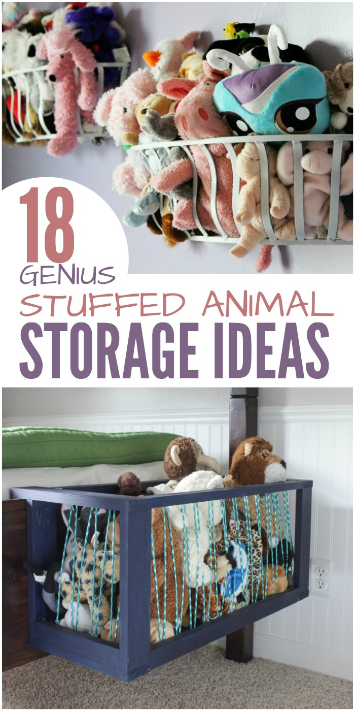 18 Genius Stuffed Animal Storage Ideas to Eliminate Toy Clutter