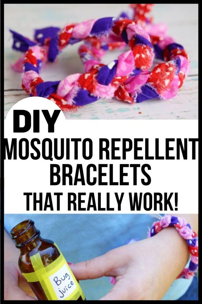 mosquito repellent bracelets Pinterest pin image A