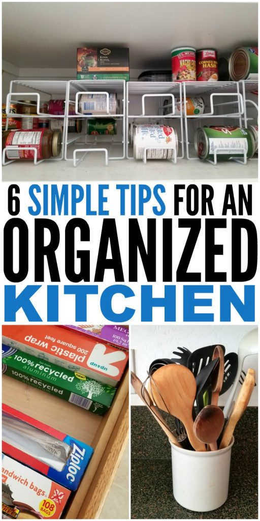 6 Simple Tips for an Organized Kitchen