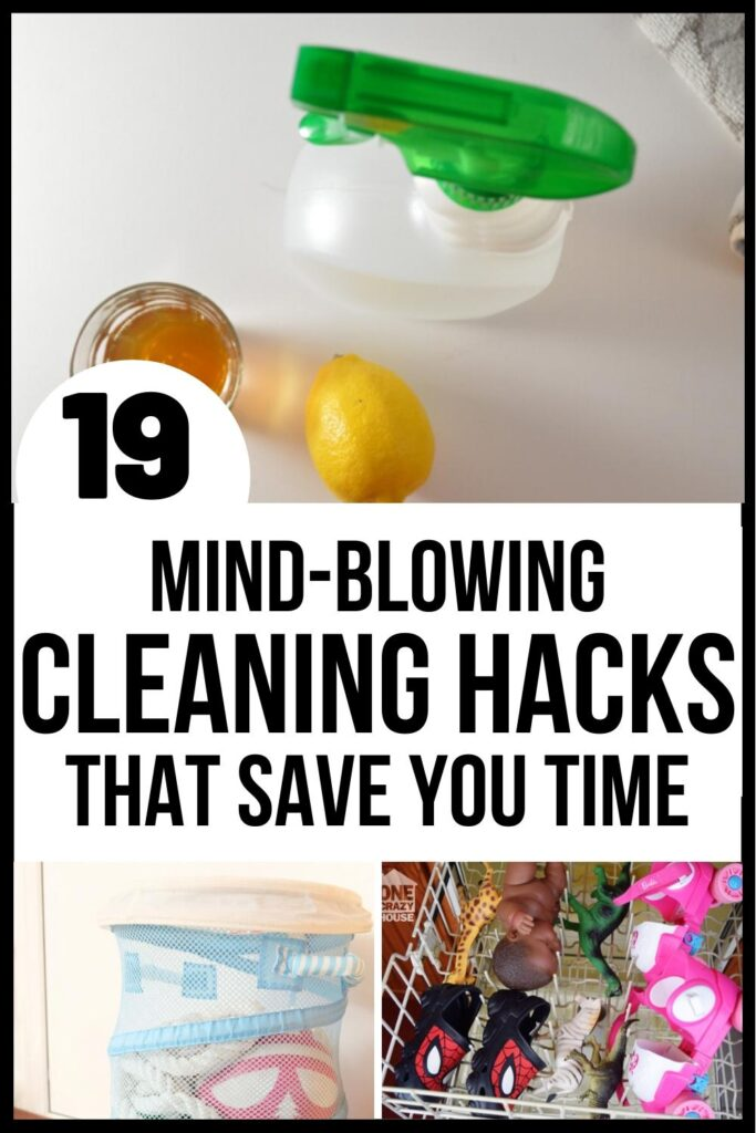 House cleaning hacks pin image A