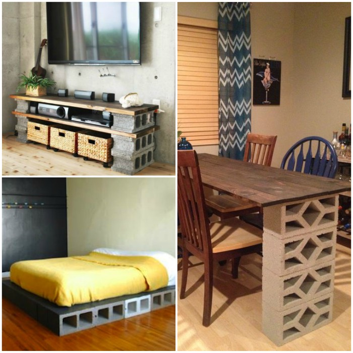 Concrete Block Projects for the Home