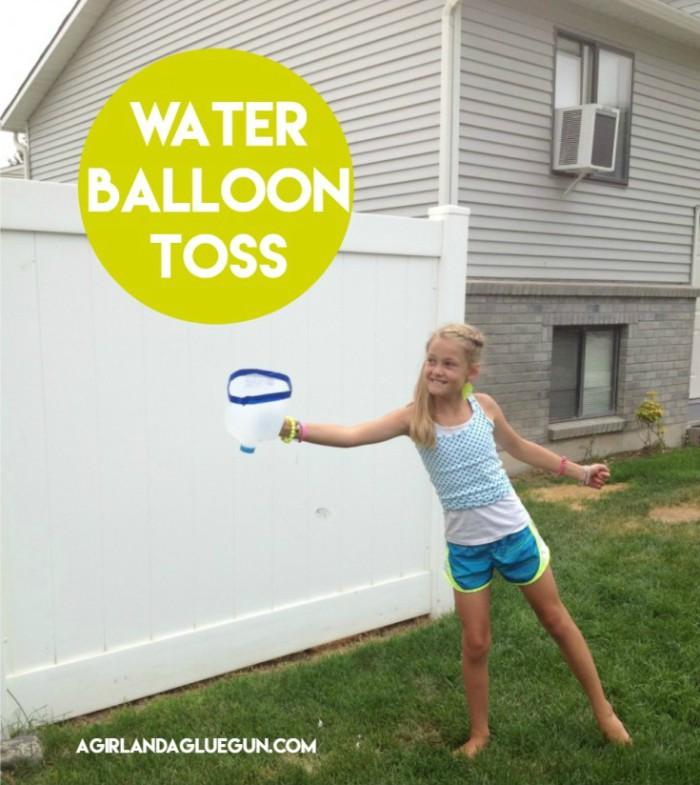 Water Balloon Toss with milk jug