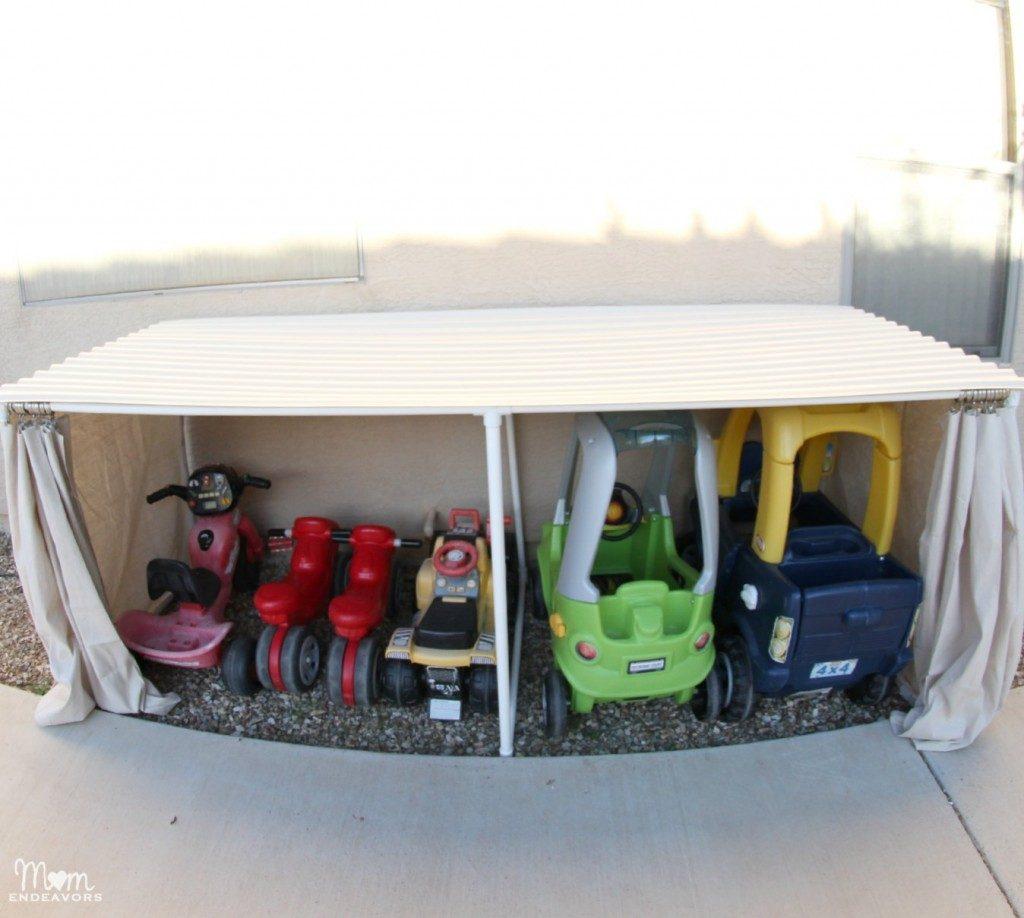 Outdoor-Toy-Car-Organization