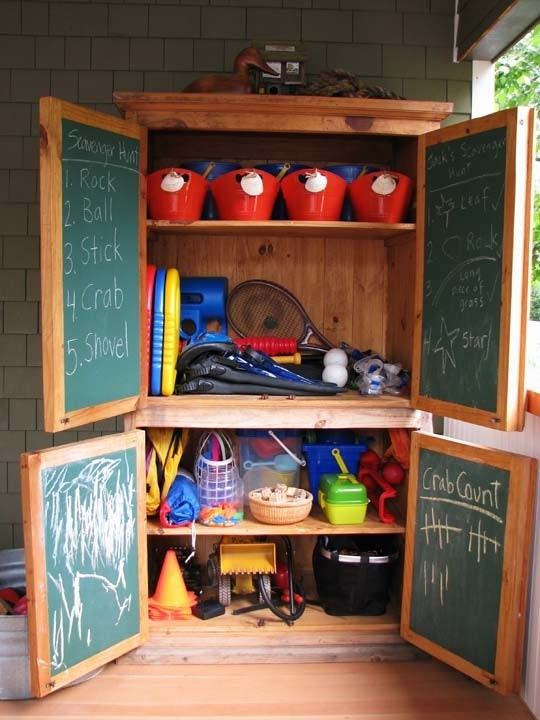 Pantry Storage for Backyard Toys