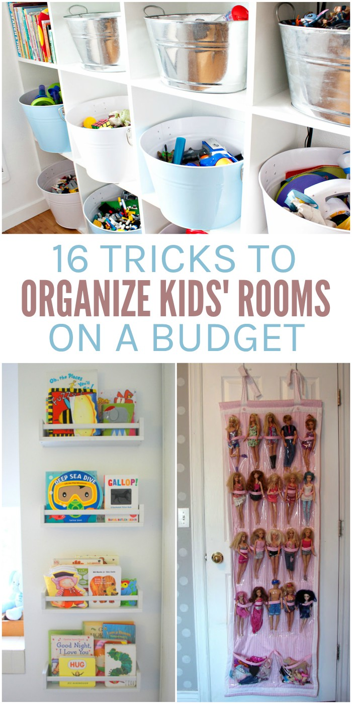 16 Ways to Organize Your Kids' Rooms on a Budget