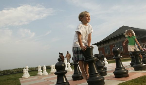 Backyard Game Ideas - Life size chess or checkers