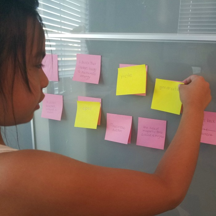 Simple Sticky Note Study Game