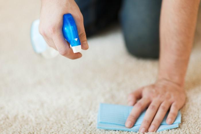 Spot clean carpets