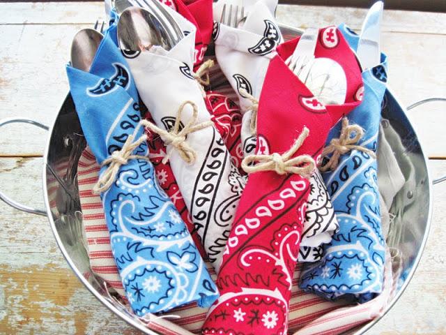 bandana utensil holders