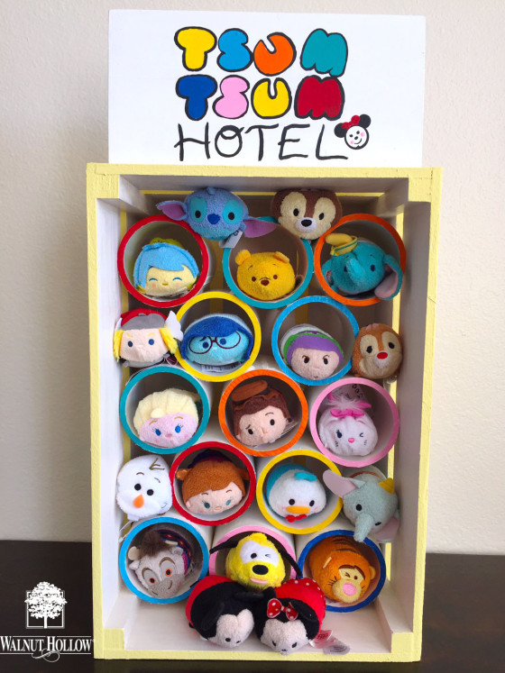 crate and pvc pipe toy hotel