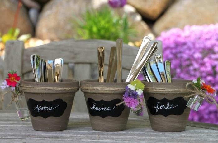 flower pot utensil holders