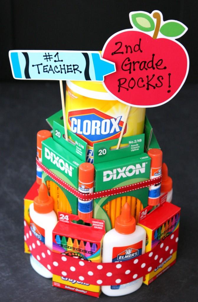 school supply cake