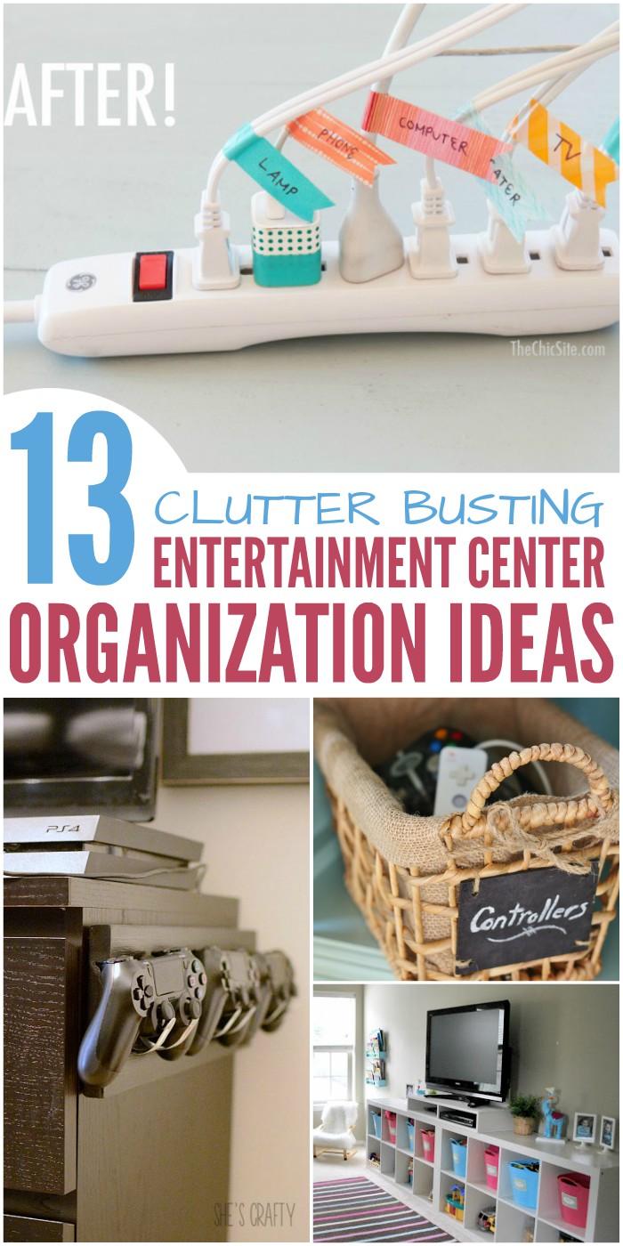 13 Genius Entertainment Center Organization Ideas