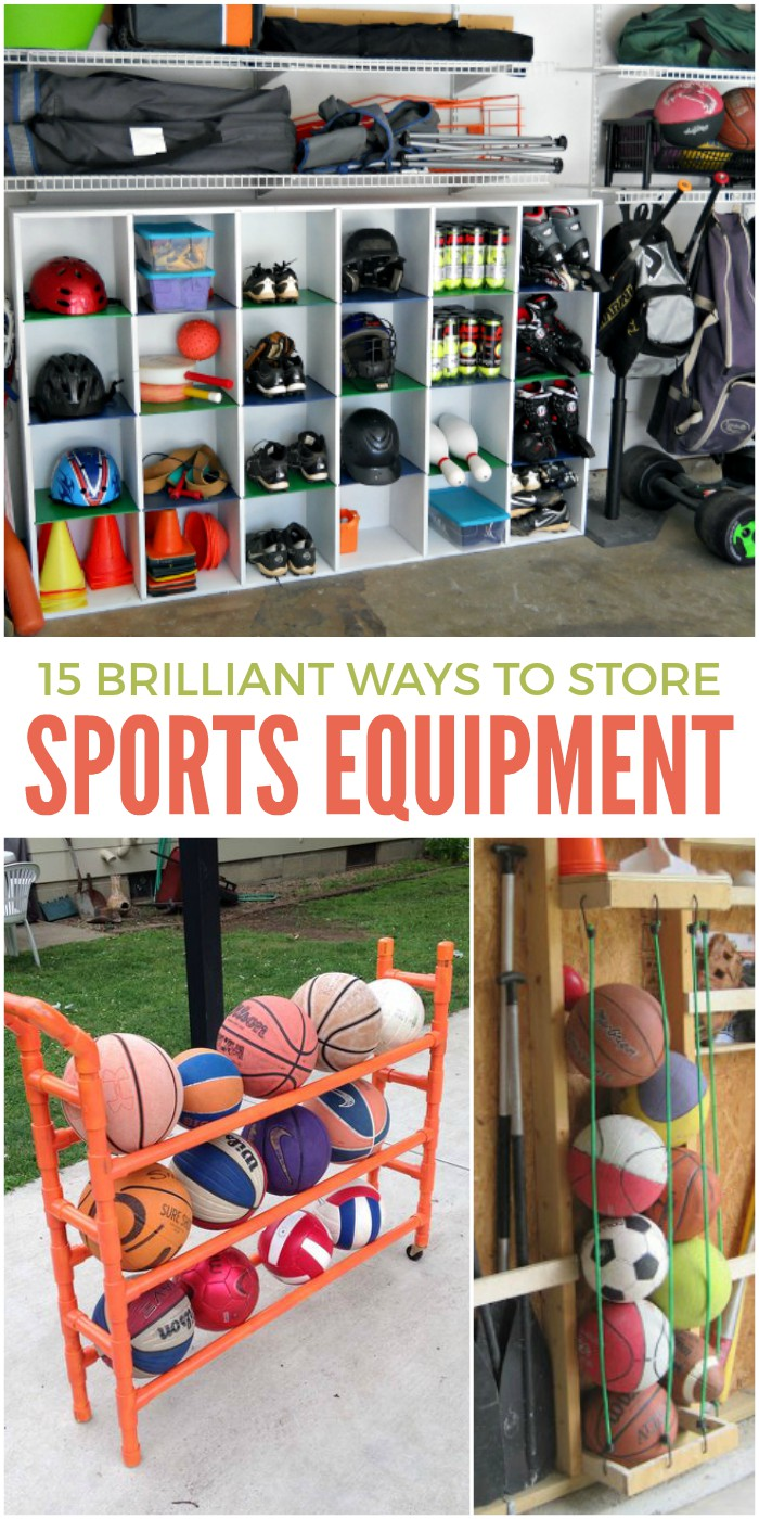 15 Brilliant Sports Equipment Storage Ideas for Active Families